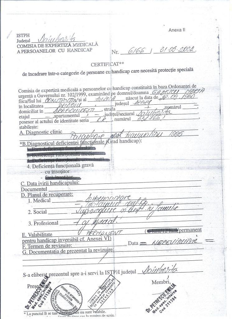certif medical