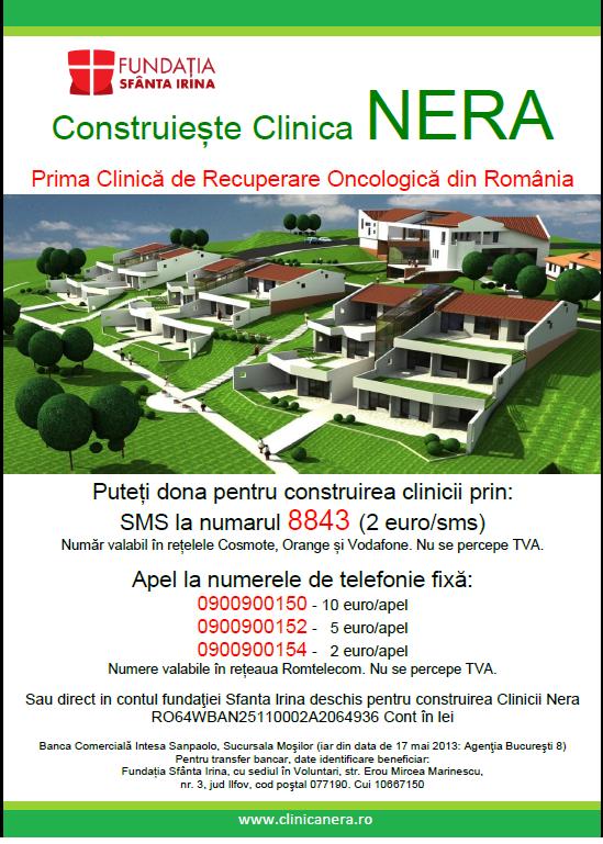 Campanie de strangere de fonduri pentru construirea Clinicii NERA (30 martie-30 iunie 2013)