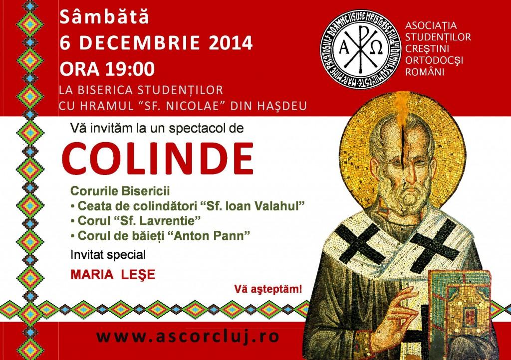 Spectacol de COLINDE la hramul Bisericii Studentilor din campusul Hasdeu din CLUJ NAPOCA, cu invitat special MARIA LESE