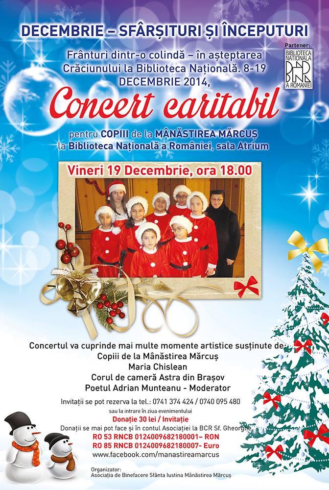 """Update- """"Daruind vei Dobandi"""" – concert caritabil de colinde pentru fetitele de la Marcus"""