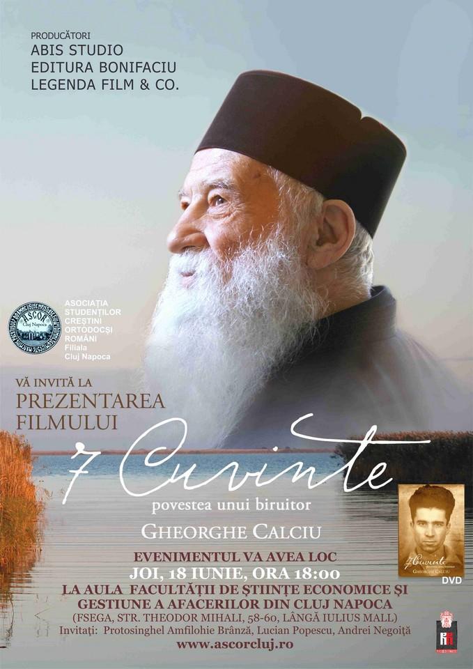 "PREMIERA DIN CLUJ A FILMULUI <i>""7 CUVINTE. Povestea unui biruitor – Gheorghe Calciu""</i>"