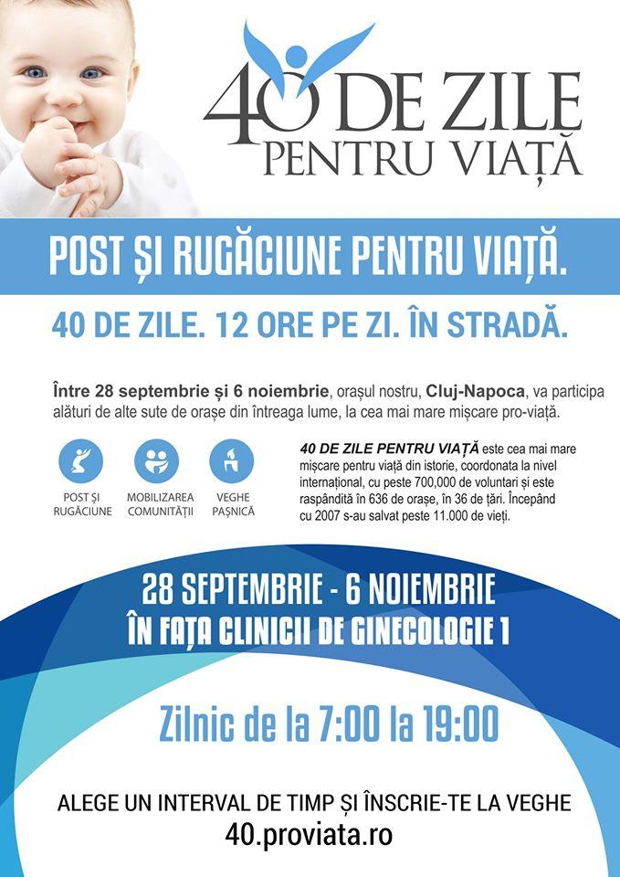 """ASCOR Cluj participa la CAMPANIA <i>""""40 DE ZILE PENTRU VIAȚĂ""""</i>"""