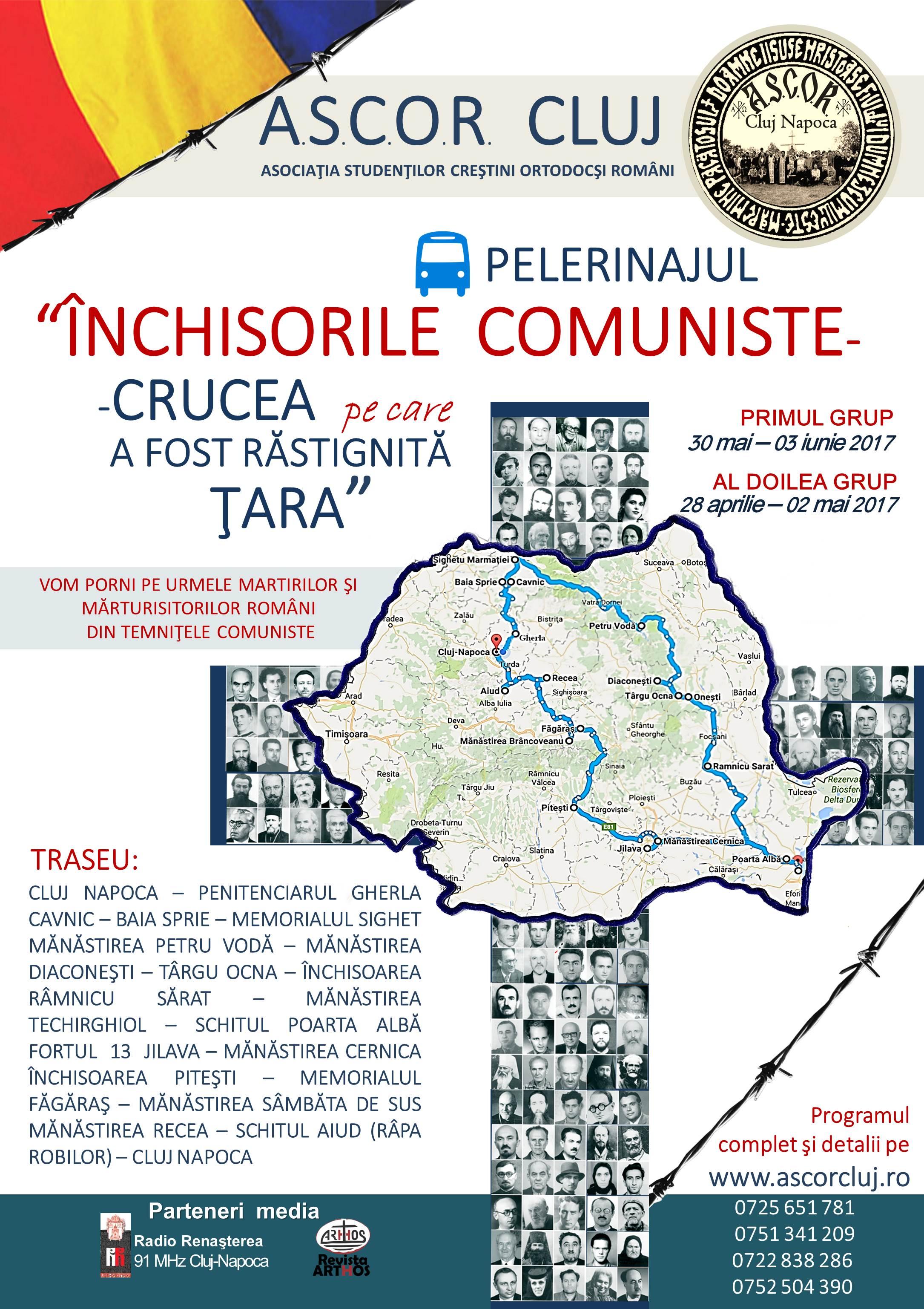 """Pelerinaj ASCOR Cluj: <i>""""ÎNCHISORILE COMUNISTE – CRUCEA PE CARE A FOST RĂSTIGNITĂ ŢARA""""</i>"""
