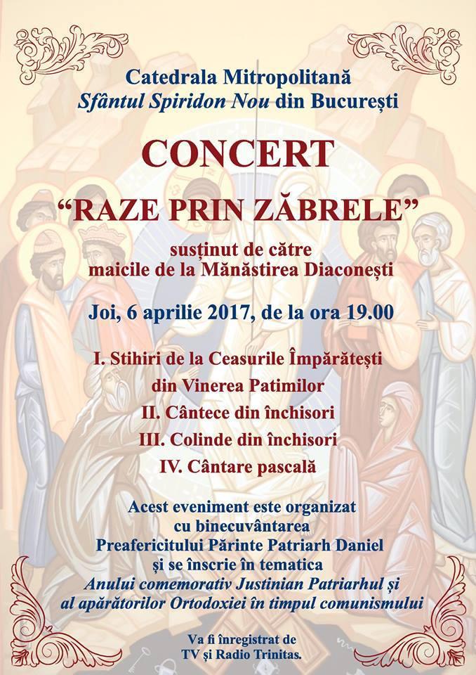 MAICILE DE LA DIACONESTI canta intr-un concert dedicat mărturisitorilor din temniţele comuniste la CATEDRALA SFANTUL SPIRIDON NOU din Bucuresti