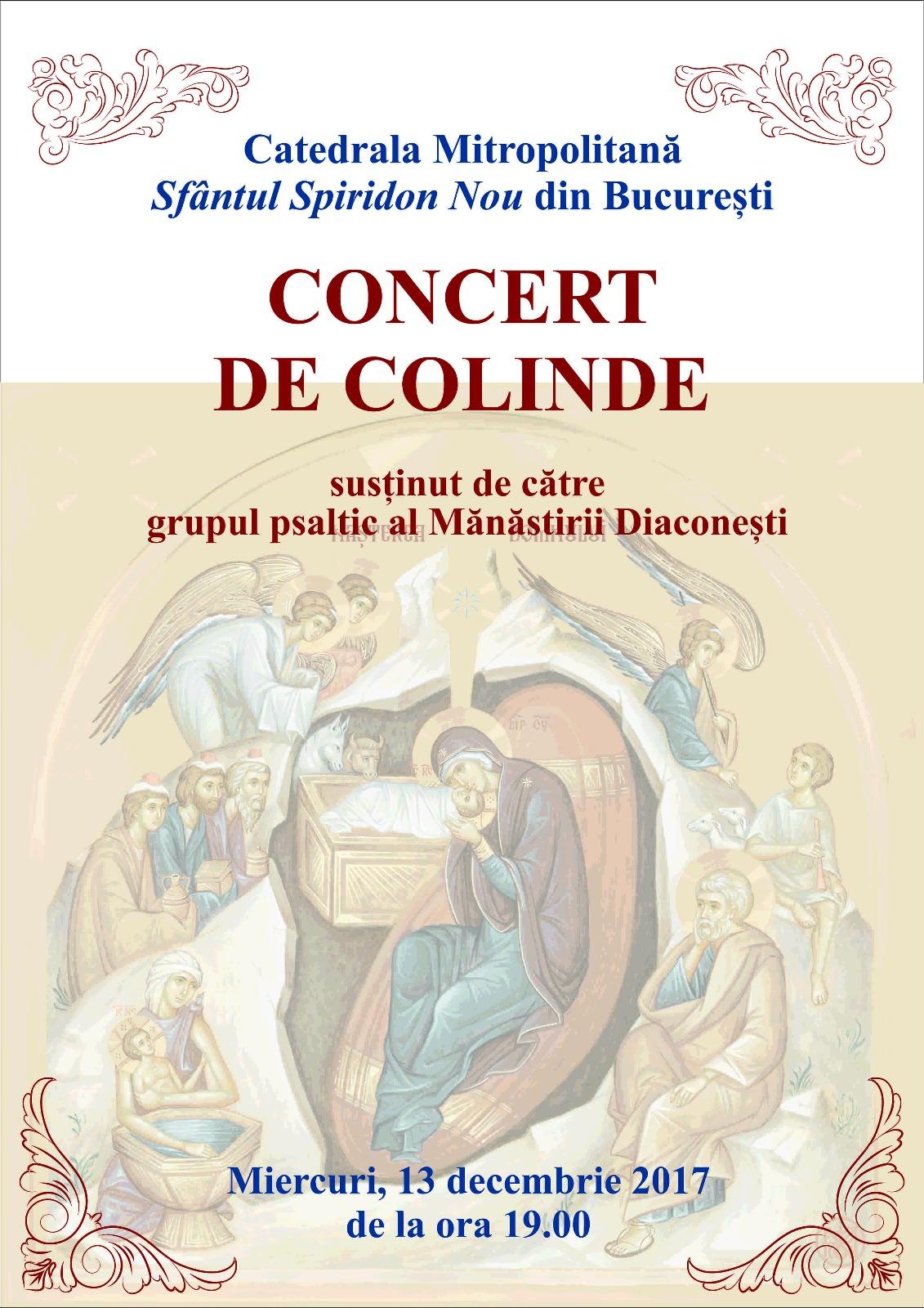 MAICILE DE LA MANASTIREA DIACONESTI sustin, la Catedrala Sfantul Spiridon Nou din Bucuresti, un CONCERT DE COLINDE