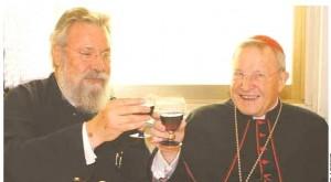 Primatul Ciprului Hrisostomos şi cardinalul Walter Kasper