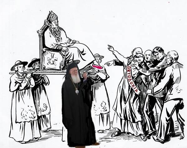 Intimidarile Patriarhului Ecumenic Bartolomeu si Mitropolitul de Gortina