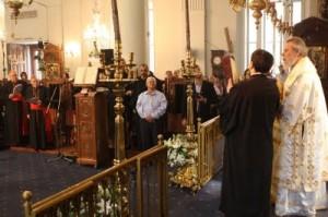rugăciuni în comun în timpul Liturghiei în Cipru