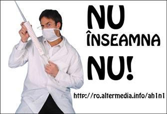 """""""REFUZAM SA FIM COBAI!"""" – Incepe vaccinarea? Romanii deja incep sa spuna NU! Pandemia – dovedita de jurnalistii danezi ca fiind cea mai mare afacere de coruptie din lume! (Stiri 26 nov. 2009)"""