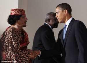 Gaddafi si amicul Obama