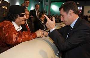 Gaddafi si prietenul Sarkozy