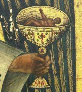 Sfanta Impartasanie Hristos in potir