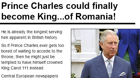 <b>Daily Mail reitereaza ideea ca PRINTUL CHARLES ar putea deveni REGE AL ROMANIEI</b>/ Intalnirea lui Charles, in 2000, cu PARINTELE DIONISIE DE LA COLCIU (Muntele Athos)