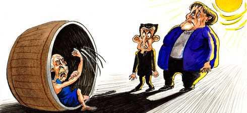 REFERENDUM SAU SANTAJ? <b>Reactia patologic ANTI-DEMOCRATA a LIDERILOR UE, FMI SI A PIETELOR fata de propunerea lui Papandreou</b>