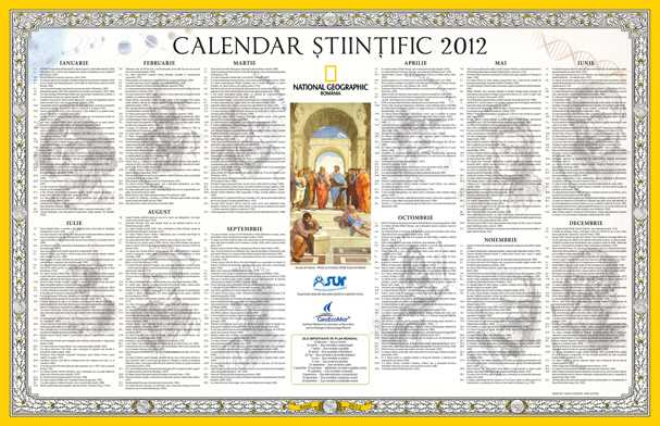 "National Geographic si ASUR MAIMUTARESC CALENDARUL ORTODOX LANSAND ""CALENDARUL STIINTIFIC 2012"""