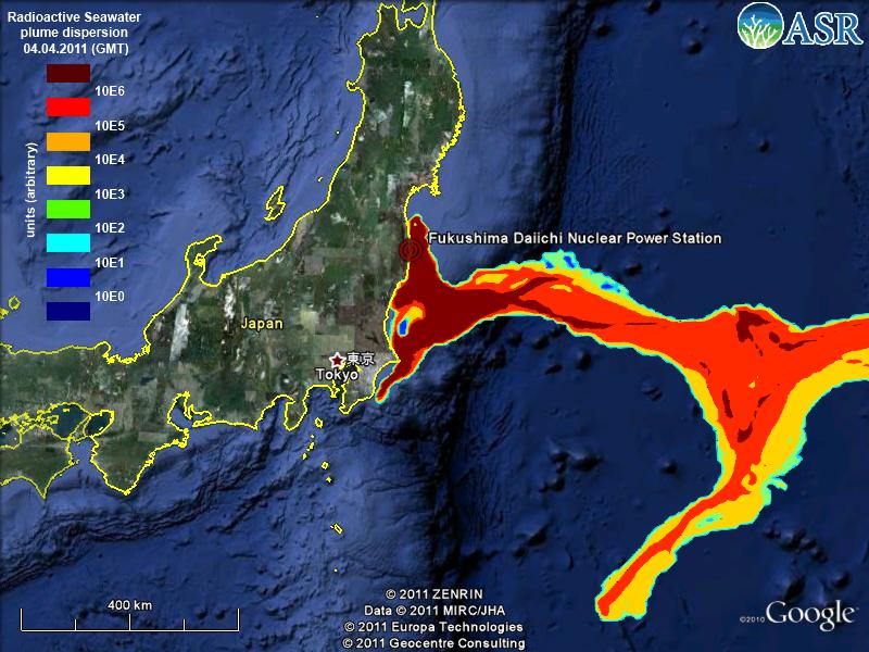 Fukushima: APA RADIOACTIVA SCURSA IN OCEAN