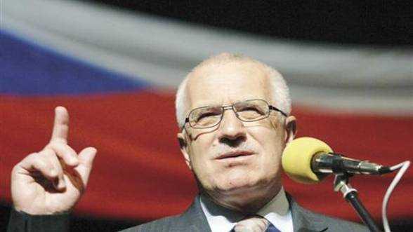 Presedintele ceh Vaclav Klaus RESPINGE ACORDUL FISCAL EUROPEAN