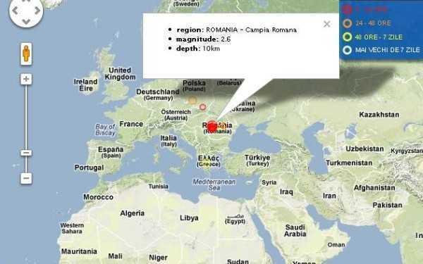 20 de cutremure in Campia Romana si Vrancea, intre 1 si 2 ianuarie 2012