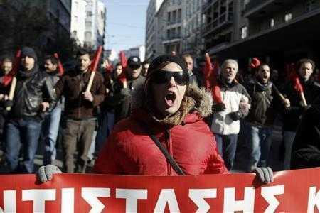 Proteste si la Atena (GRECIA): AFARA UE SI FMI!