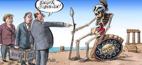 """Austeritate FARA MILA pentru Grecia. CRIZA POLITICA in guvernul Papademos, CIOCNIRI VIOLENTE LA ATENA, """"mandate de arestare"""" simbolice pentru TROICA FMI-UE-BM (Video)"""