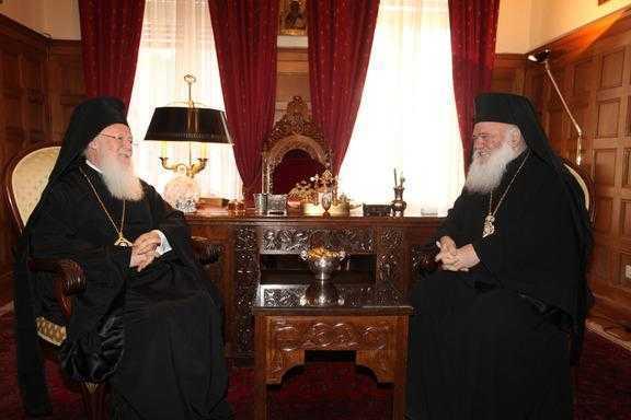 Patriarhul Ecumenic cere Arhiepiscopului Ieronim INTERZICEREA anatemelor rostite de IPS Serafim de Pireu la Duminica Ortodoxiei