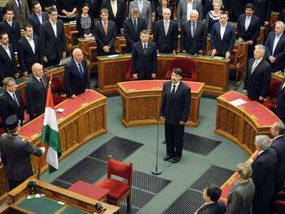 Imnul secuiesc la investirea presedintelui Ungariei