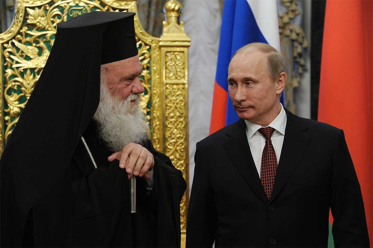 ARHIEPISCOPUL IERONIM, INTAI-STATATORUL BISERICII GRECIEI: <i>L-am rugat pe Putin sa dezvolte relatiile dintre Grecia si Rusia. Tara noastra are mare nevoie</i>