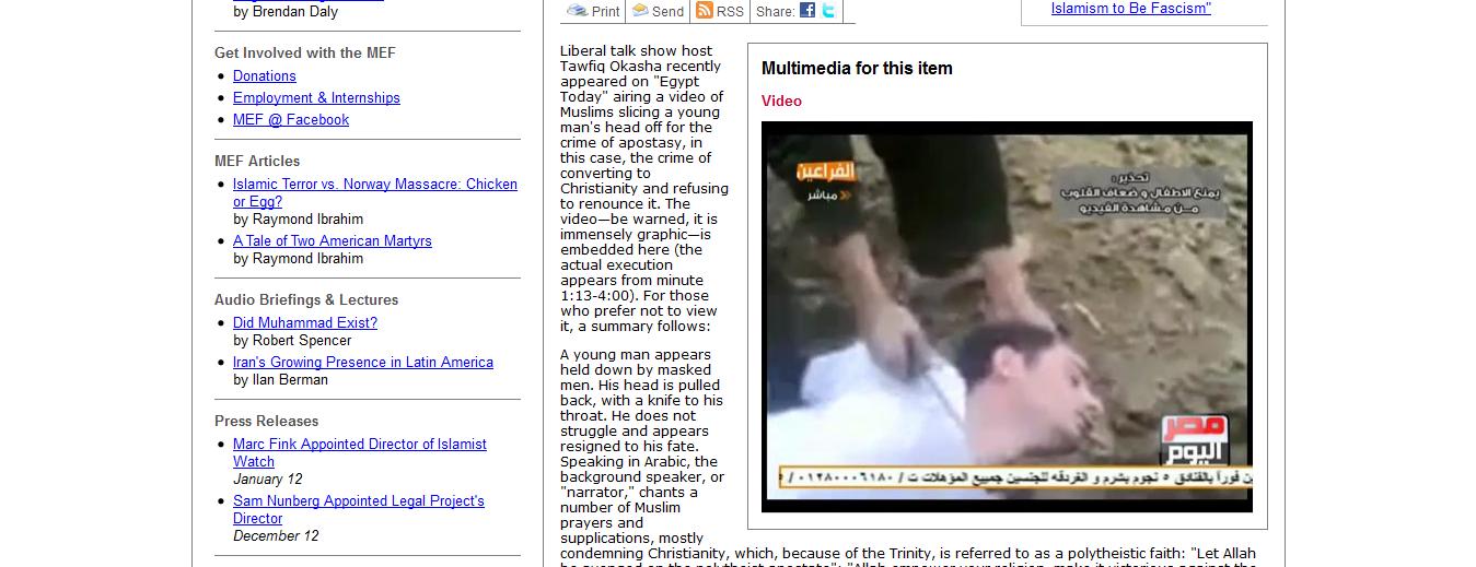 MUCENICIE IN ZILELE NOASTRE: <b>decapitarea unui tanar crestin de islamisti extremisti</b>. PRIGOANA CRESTINILOR DIN LUMEA MUSULMANA. NOI CE AM FACE?
