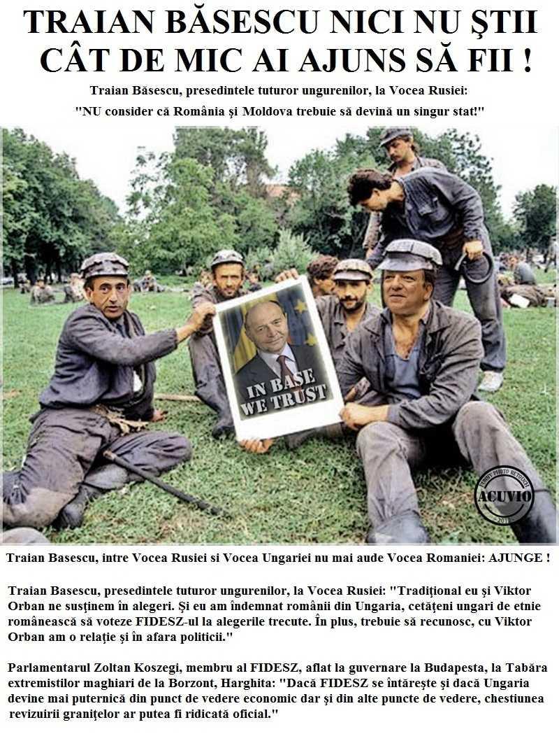 "<i>UPDATE</i>: <b>PRESEDINTELE UDMR: <i>""Autonomia Tinutului Secuiesc se va realiza""</i></b>/ Traian Basescu in secuime: UNGURIMEA INTELIGENTA SI MUNCITOARE vs. ROMANIMEA PROASTA SI LENESA"