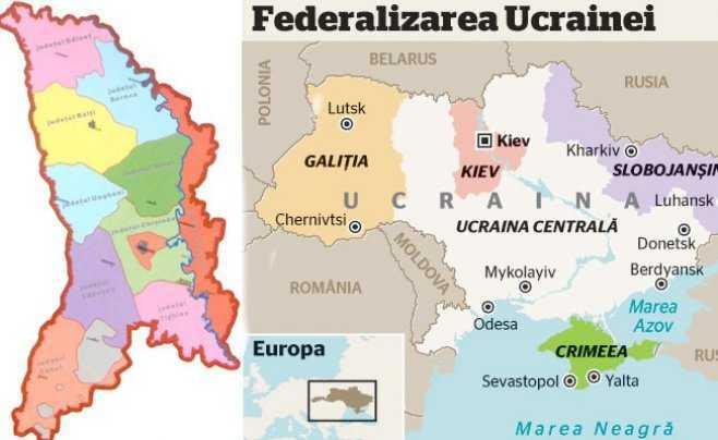 FEDERALIZAREA MOLDOVEI, LA PACHET CU CEA A UCRAINEI? Germania si Rusia isi impart ESTUL Europei