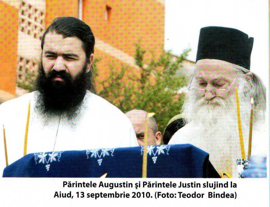 Parintele Augustin si Parintele Iustin la Aiud, 2010