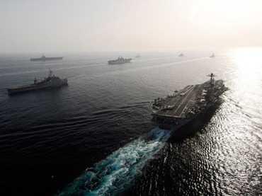 ARMADA AMERICANA DE NAVE MILITARE TRIMISA IN GOLFUL PERSIC pentru simulari privind eventualul atac al Israelului asupra Iranului