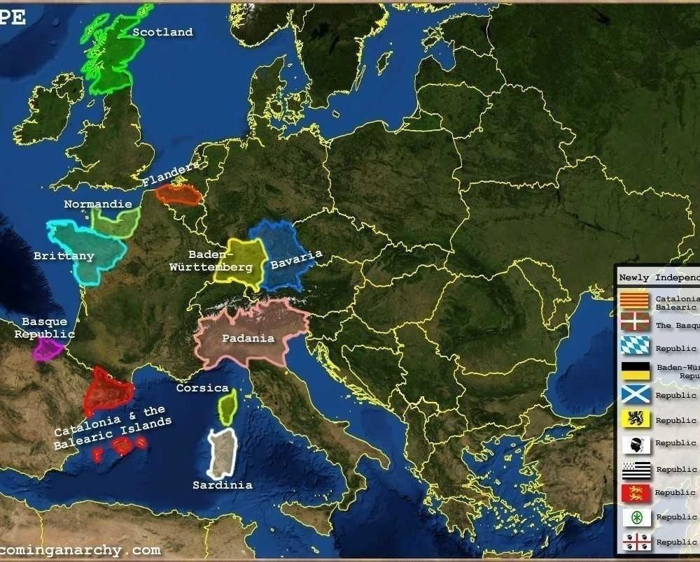 LEGATURI PRIMEJDIOASE: Revoltele secesioniste si STATELE UNITE ALE EUROPEI