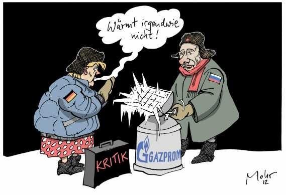 Rusia prinde Europa in cleste prin GAZPROM. Cu complicitatea Germaniei