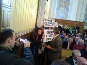 protest tineri Cluj Verheugen UE