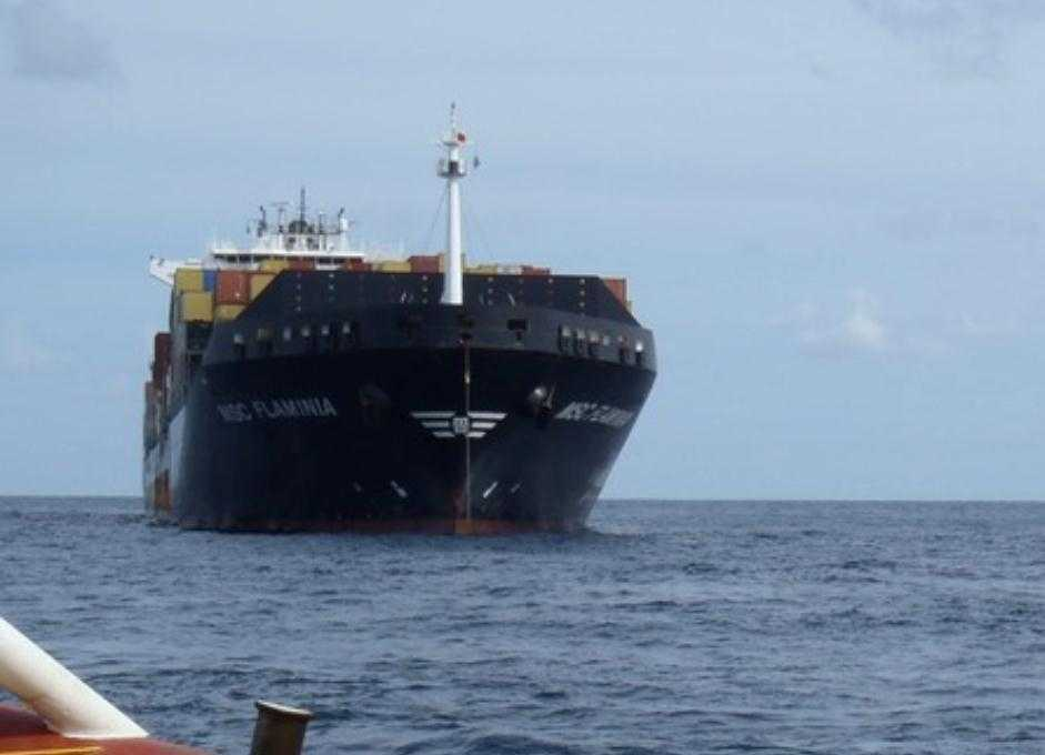 BOMBA TOXICA PLUTITOARE CATRE ROMANIA: o nava germana cu SUBSTANTE CHIMICE trage in portul MANGALIA