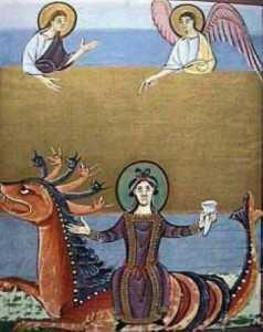 a doua femeie a apocalipsei - marea desfranata - calare pe fiara