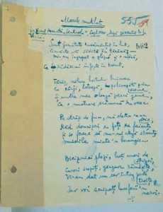 Manuscris recuperat din închisoarea de la Braşov