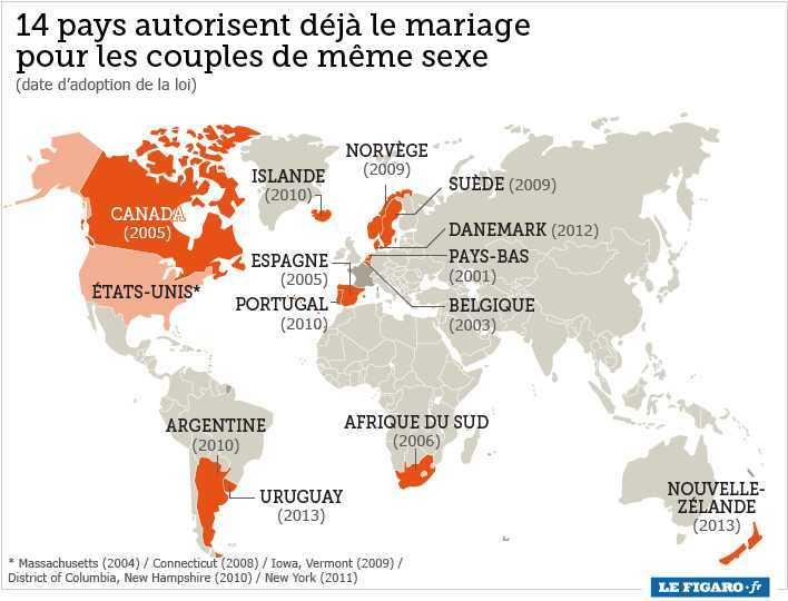harta casatoriilor homosexuale