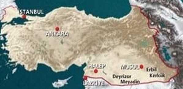 Presa din TURCIA despre anexarea NORDULUI GRECIEI, CIPRULUI si zonelor din SIRIA si IRAK. <b>HARTA TURCIEI MARI sau NOUL IMPERIU OTOMAN</b>