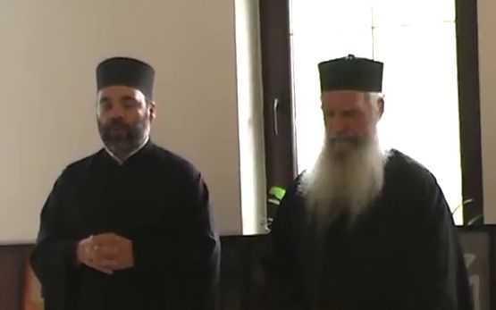 Pr. Zisis si Pr. Ciprian Staicu la conferinta amtiecumenista Constanta - Sf Ioan Casian