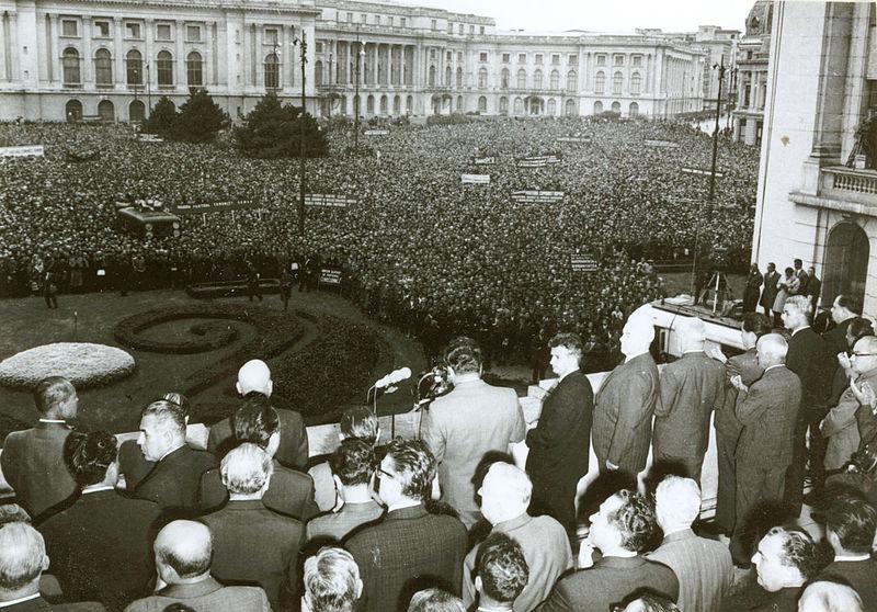 Adunare Piaţa Palatului August 1968 (wikipedia.org)