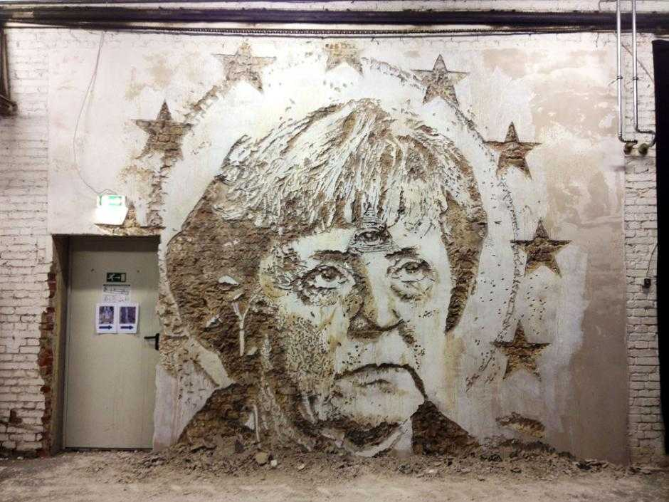 Graffiti contra Merkel