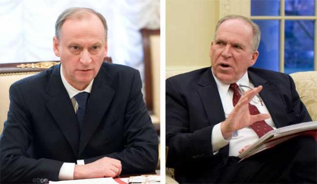 Nikolai Patruşev (s) si John Brennan (d)