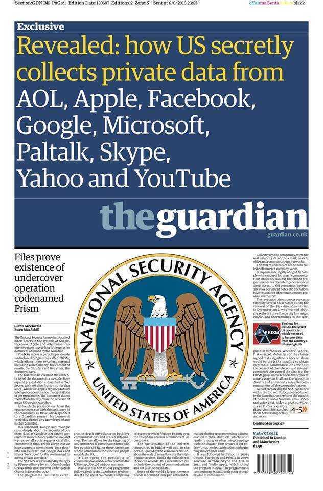 """Scandal urias in SUA legat de SPIONAREA de catre FBI a utilizatorilor GOOGLE, FACEBOOK si SKYPE. <i><b>""""Ei pot să îţi vadă ideile formându-se pe măsură ce le tastezi""""</b></i>"""