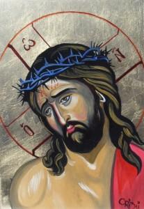 tablouri_religioase_buclea_cristian_-_petru_iisus_cu_coroana_de_spini