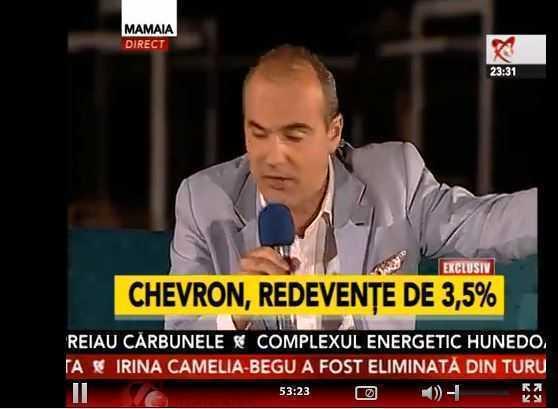 [update video] Realitatea TV: REDEVENTA IN CONTRACTUL CU CHEVRON AR FI DE DOAR 3,5%, iar durata contractului – 30 DE ANI!