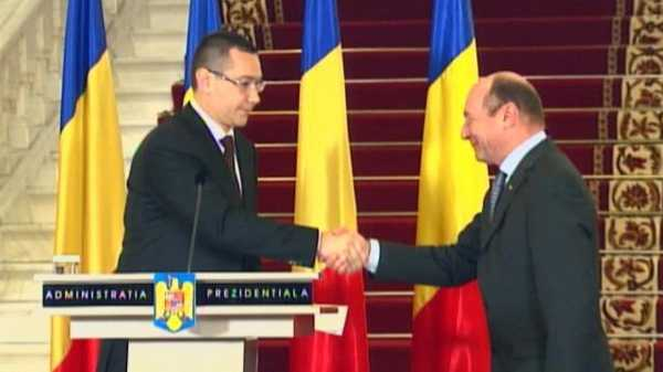 "Rosia Montana: act de INALTA TRADARE NATIONALA ""parafat"" de Traian Basescu si Victor Ponta. Spectacolul grotesc al ""CONVERTIRII"" CONSTIINTELOR DE AURUL RMGC. <b><i>""Rosia Montana e doar regina pe tabla de sah. Daca va cadea regina, se va prabusi totul""</i></b>"