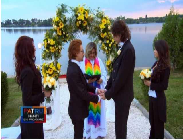 """Emisiunea PROTV """"Patru nunti si-o provocare"""" cu """"PRIMA NUNTA INTRE HOMOSEXUALI"""" a fost urmarita de 1,5 milioane de telespectatori. TRUSTUL ASUMA OFICIAL PROMOVAREA HOMOSEXUALITATII SI """"COMBATEREA PREJUDECATILOR"""""""