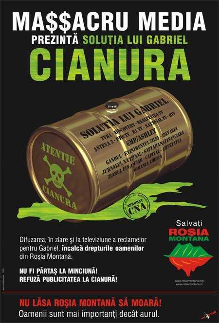 PROPAGANDA AGRESIVA A RMGC PUNE IN PERICOL LIBERTATEA DE OPINIE. Cazul jurnalistei Miruna Munteanu